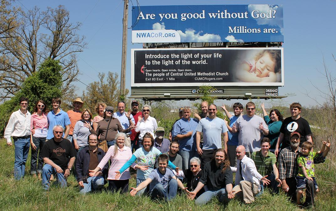 Northwest Arkansas Coalition of Reason billboard